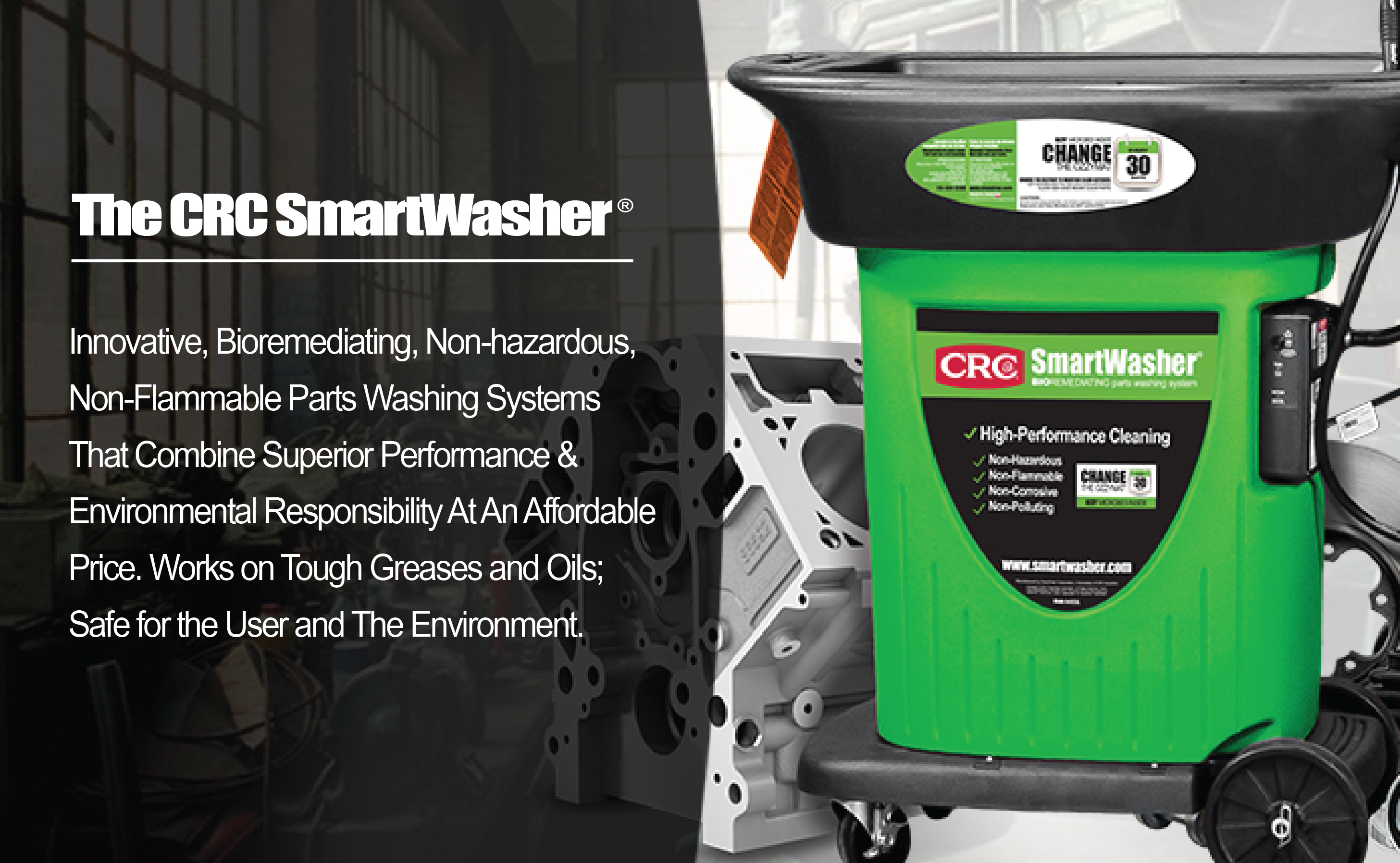 Part Washers and Parts Washer Solutions | ChemFree CRC